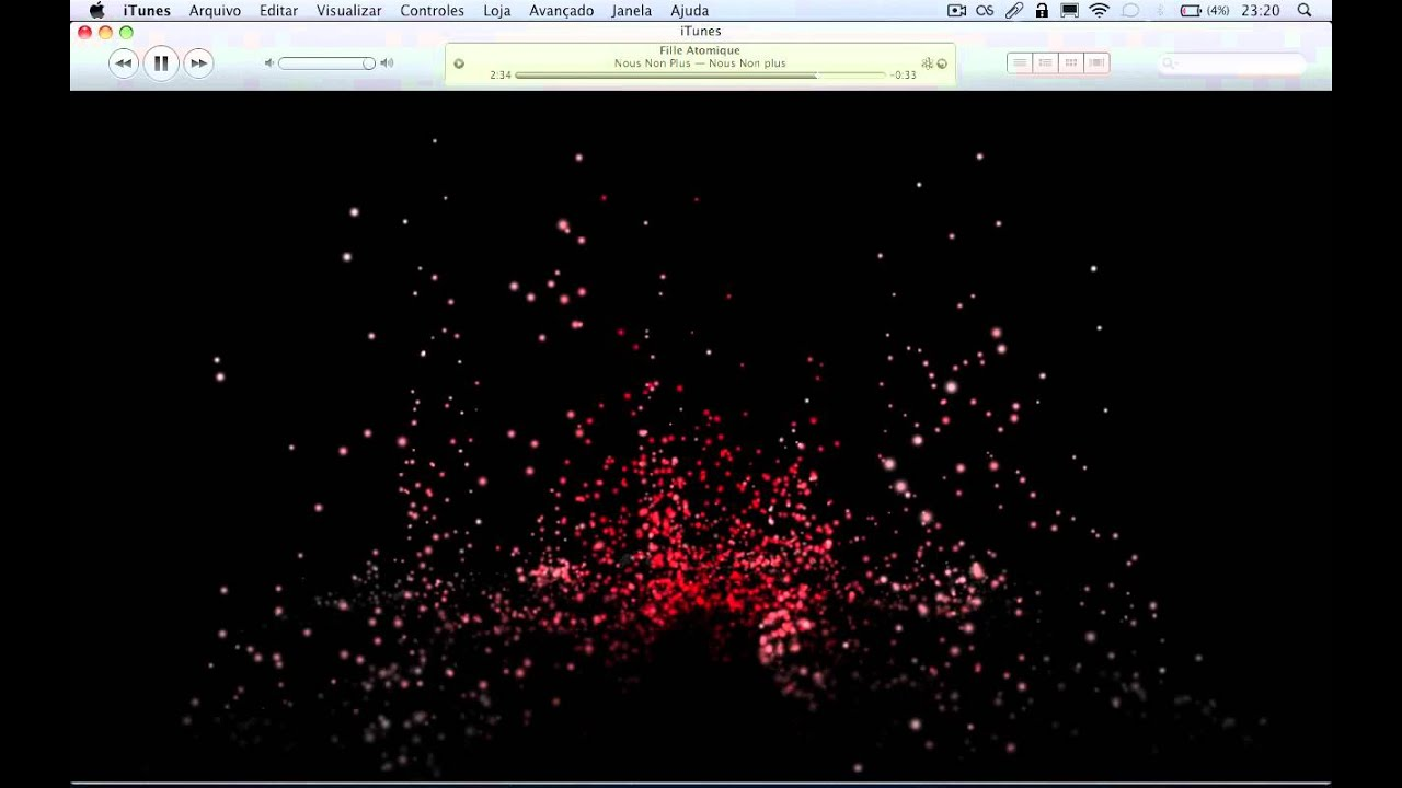 Fountain Music - iTunes Visualizer demonstration