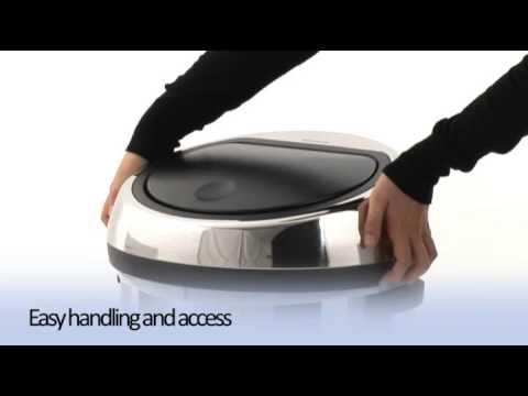 Brabantia Touch Bin 50 Liter Wit.Brabantia Touch Bin 50 Litre Matt Steel