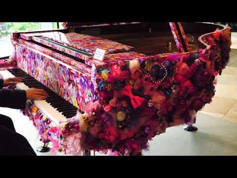 丸の内 新丸ビルでFF14 BGM  希望の都  弾いた結果www 【ピアノ】 Art Piano In Marunouchi