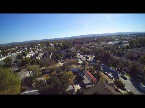 UFO over the SAN Fernando Valley ( Los Angeles ) filmed with a Drone