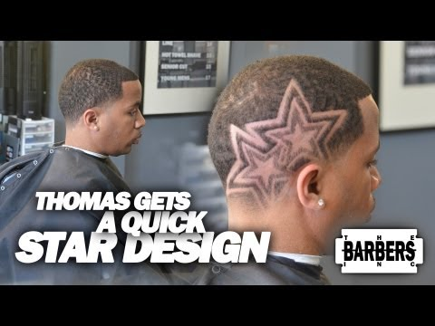 HOW TO: Easy Custom Star Design | Men's Haircut Tutorial | HD - 1080p