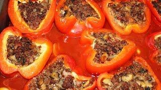 Фаршированный перец, запеченный в духовке!(Прекрасное низкоуглеводное,очень вкусное, сочное блюдо! Рецепт и пошаговые фотографии здесь: http://krasotka-star.com..., 2014-11-06T16:17:32.000Z)