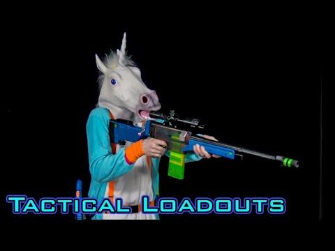 TACTICAL NERF LOADOUTS | Derek the Unicorn