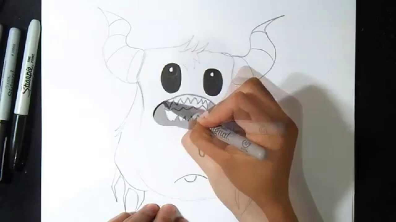 Comment dessiner un monstre youtube - Tete de monstre a dessiner ...