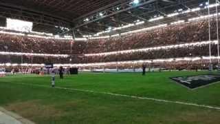 Hymne Pays de Galles / XV de France au Millennium Stadium de Cardiff le 21 Février 2014