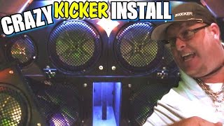 COOL Kicker Car Audio Setup w/ 19 ALPINE AMPS!  Steves LOUD & CLEAN Sound System w/ CVR Subwoofers