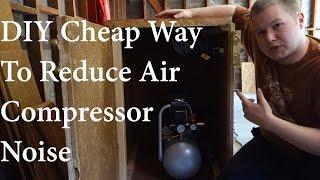 diy sound insulating air compressor box