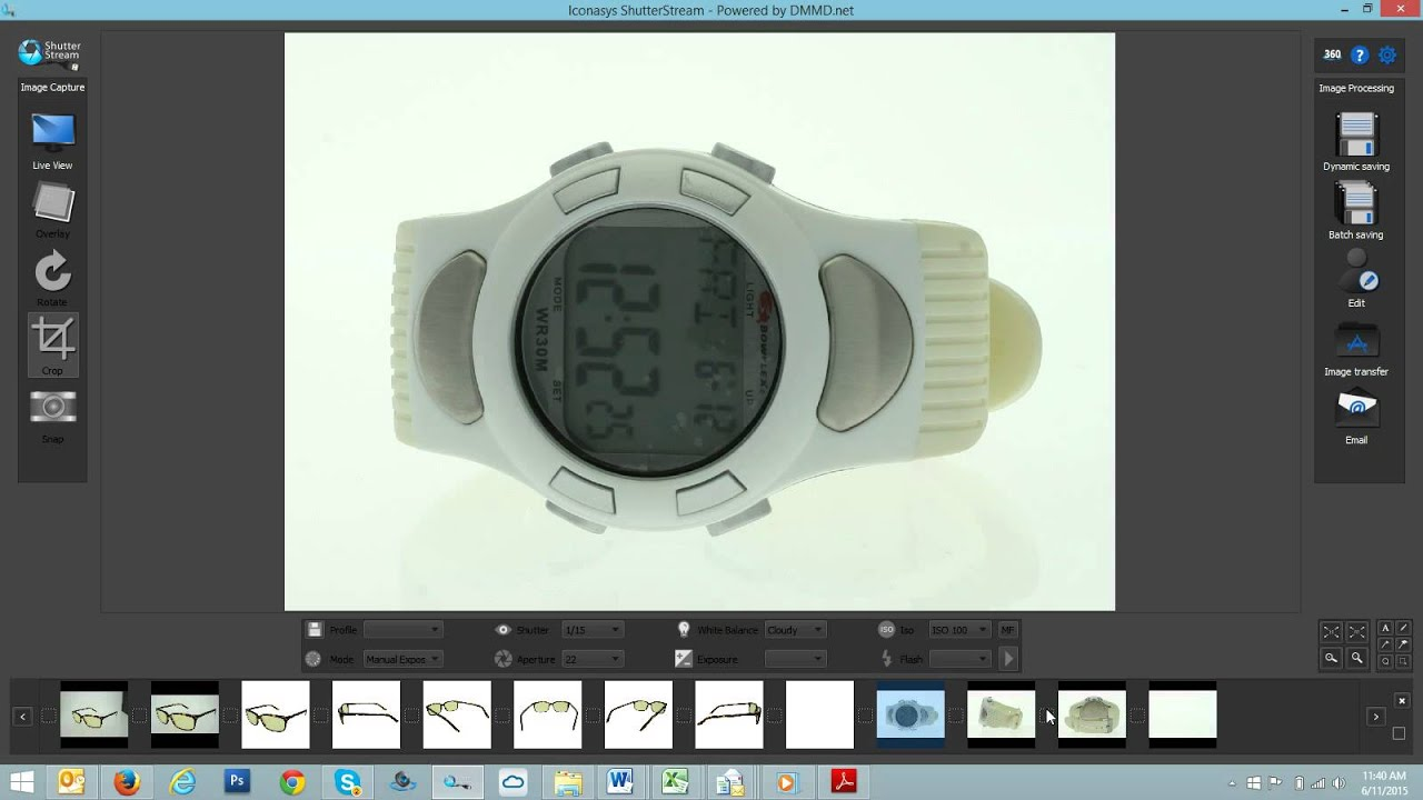 Shooting a white product - automated background removal tool in Shutter  Stream Photography Software