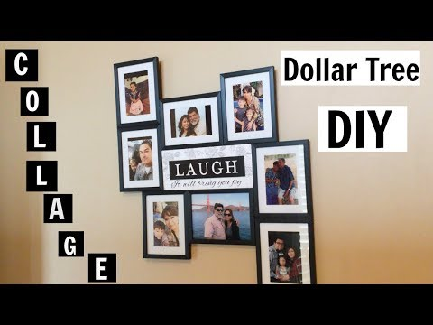 Dollar Tree DIY Family Picture Collage 👨👩👦👦