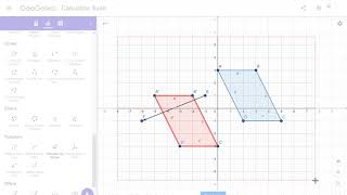 Translating Polygons on Geogebra, Part 1.