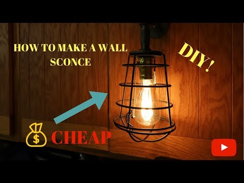 MAKING A WALL SCONCE LIGHT OUT OF GAS PIPE DIY!