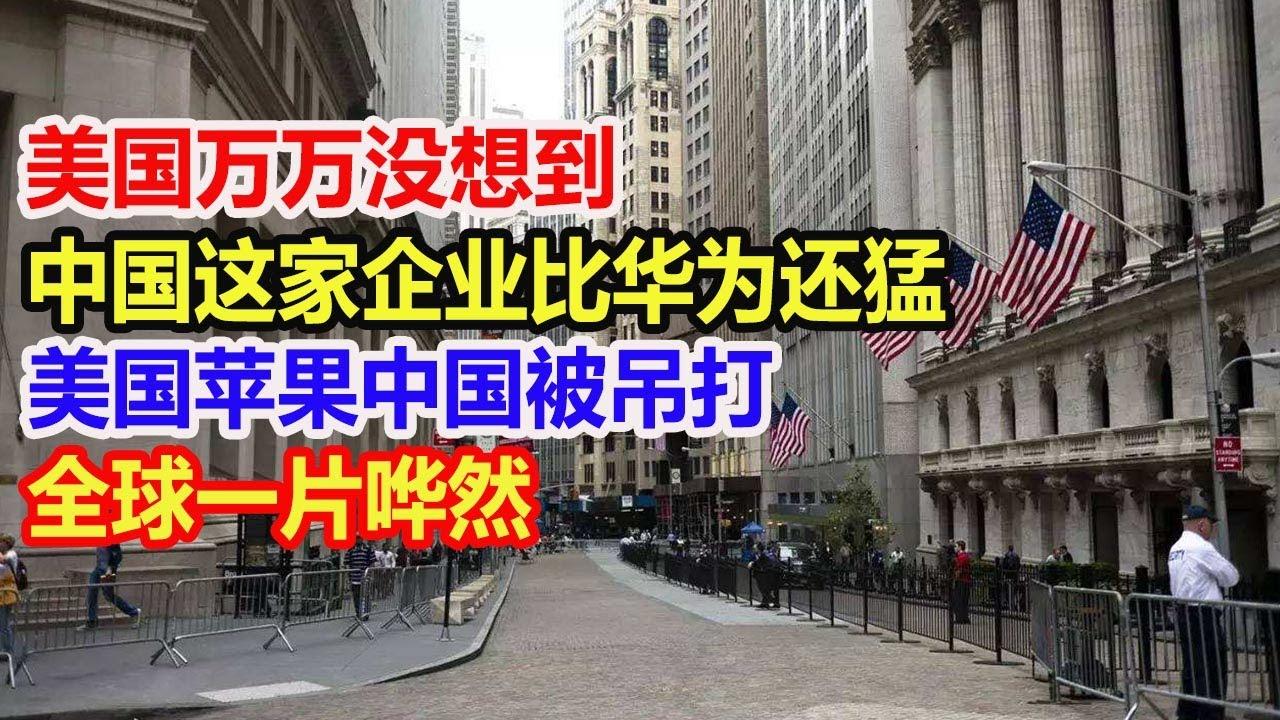美国万万没想到,中国这家企业比华为还猛,美国苹果被吊打,全球一片哗然