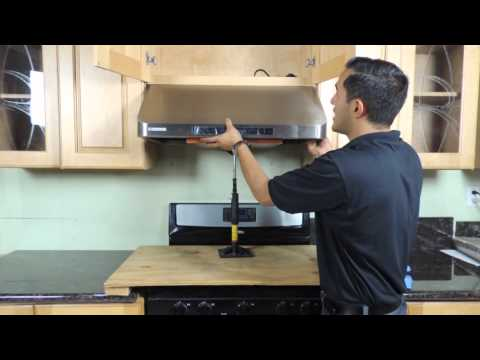 Under cabinet Range Hood Installation - New version - YouTube on
