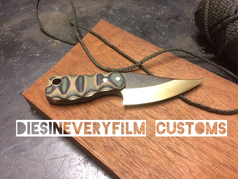 Mini bowie neck knife - knife making