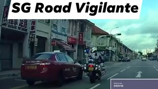 13jul2020 geylang #SHD374E transcab taxi pulled over by singapore traffic police officer