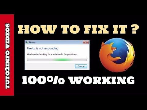 How to Fix Mozilla Firefox Not Responding or Hangs Problem | 100% Working