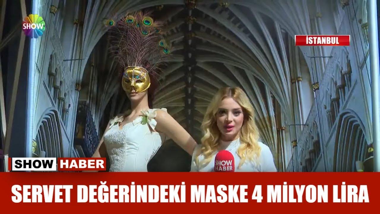 Servet değerindeki maske 4 milyon lira