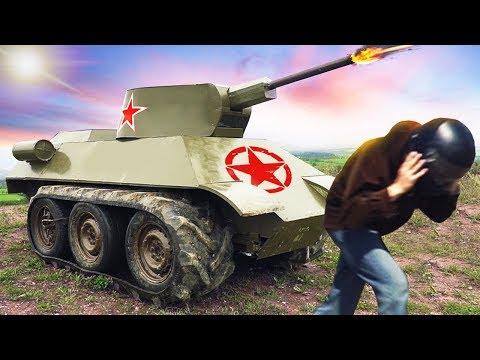 Ураганим на самодельном танке и наказываем вездеход!