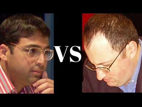 Chess Openings: Sicilian Grand Prix Attack : Vishy Anand vs Boris Gelfand 1996 - Dual commentary -
