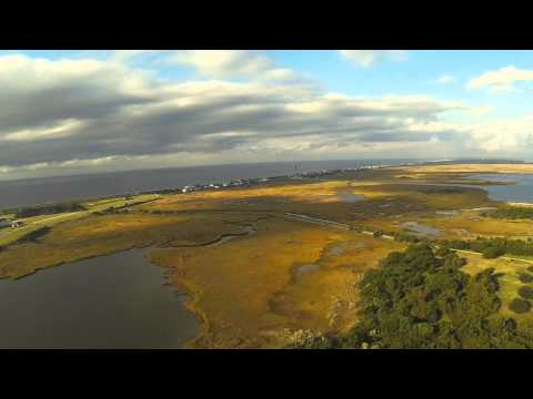 DJI Phantom Flying Over Fort Caswell Old Civil War