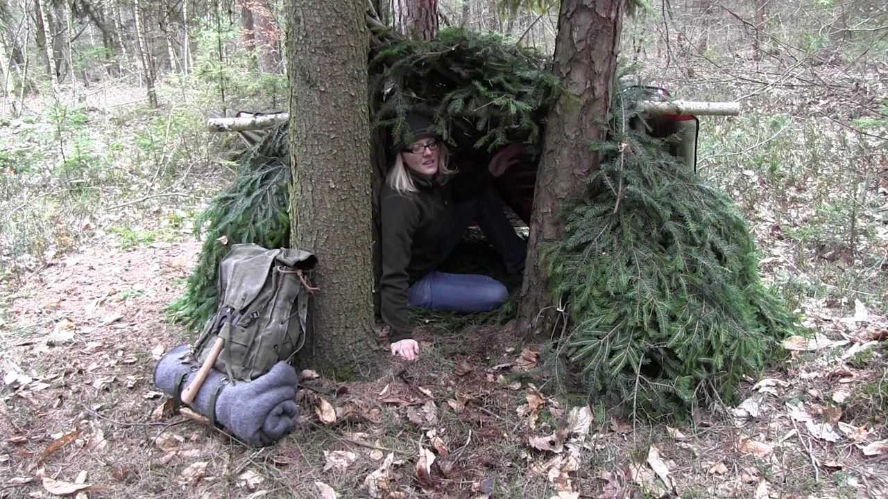 Building A Survival Shelter Youtube