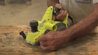 How to tune up your electric planer for best results!