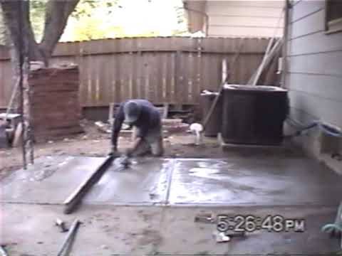 Pouring A Concrete Or Cement Patio Slab