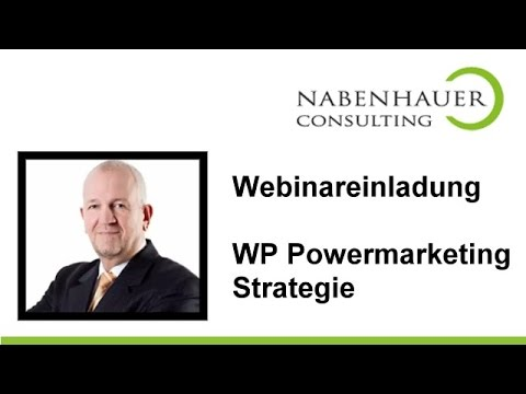 Wordpress Power Marketing mit Werner Langfritz - Webinareinladung