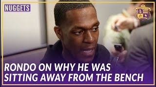 Lakers Post Game: Rajon Rondo on Why He Was Sitting Away From the Lakers Bench
