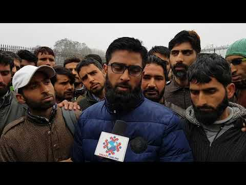 Watch: PDD Daily Wagers Stage protest demonstration in Ganderbal, demands abolishing of SRO 520