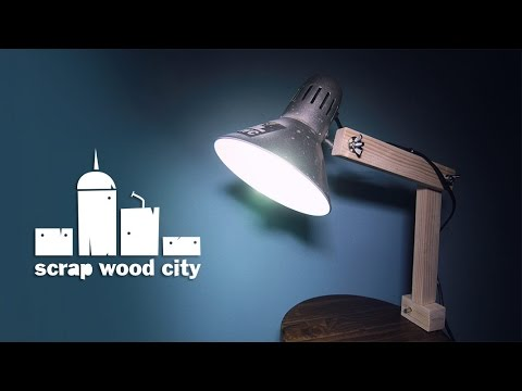 Super Easy Diy Upcycled Desk Lamp Youtube