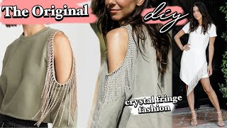 DIY: Rhinestone Fringe Fashion! // NO-SEW Designer Hack! -By Orly Shani