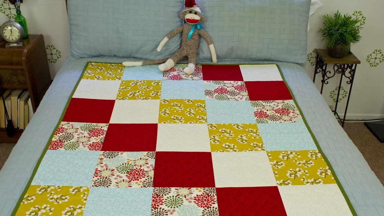 How To Sew A Block Quilt - YouTube : quilt block patterns for beginners - Adamdwight.com
