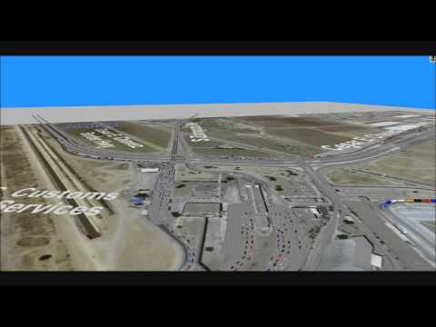 Border Crossing Traffic Simulation -- Zaragoza, El Paso, Texas