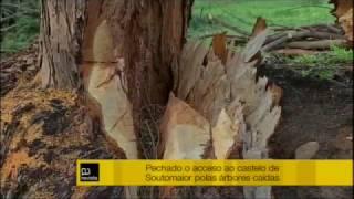 Os danos causados polo temporal obrigan a manter pechado o castelo de Soutomaior