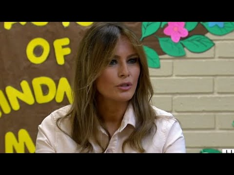 Melania Trump visits child immigrant detention center