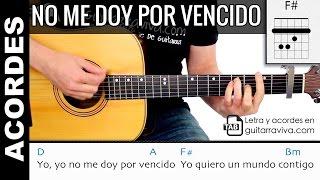acordes de yo no me doy por vencido para guitarra tutorial