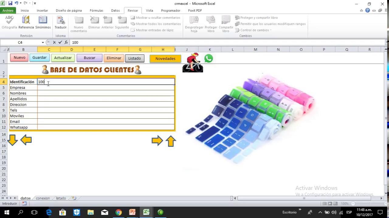 Premium: base de datos de Clientes con Excel y Macros - YouTube
