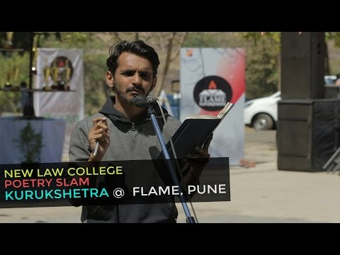 Spectacular Performance Poetry by New Law College Student at FLAME Pune