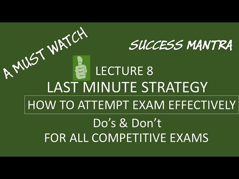 L 8 | KVS LAST MINUTE STRATEGY COMPETITIVE EXAM | A MUST WATCH | TIME MANAGEMENT | KVS  IAS IPS IBPS