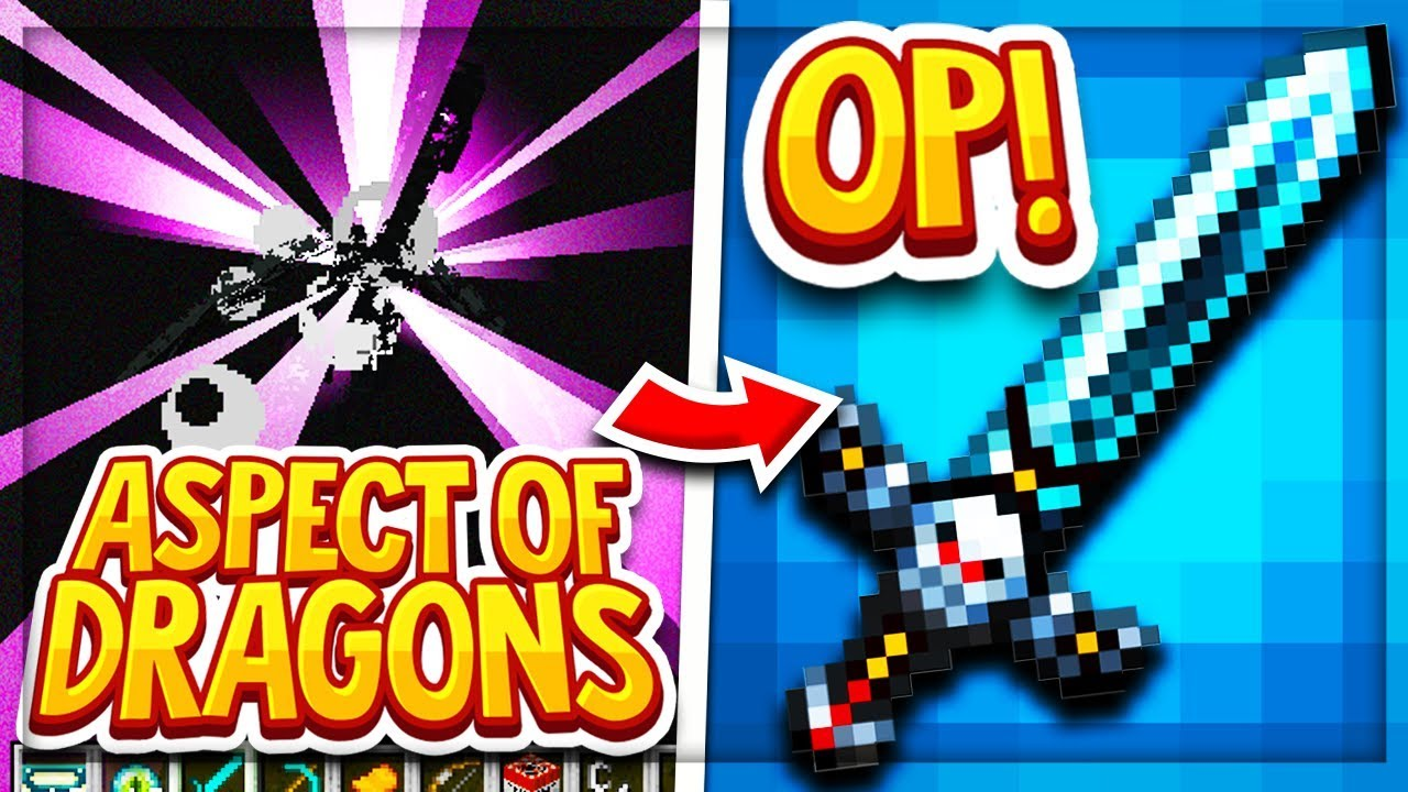 Hypixel Skyblock: Aspect of Dragons BEST SWORD!! ( HOW TO GET THE ASPECT OF  DRAGONS ) Update 0 7