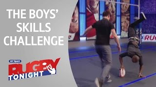 Monye, Healey and Doyle skills challenge | Rugby Tonight