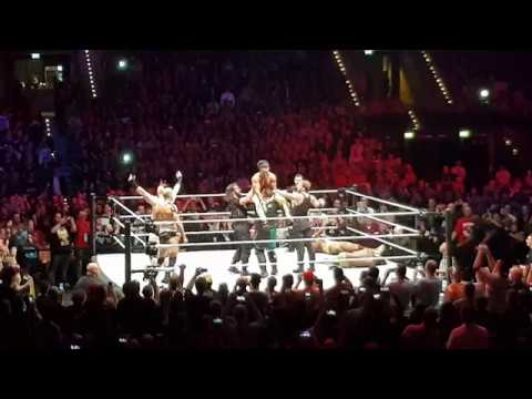 WWE Houseshow Leipzig 2017 - Brawl after Mainevent - Raw Roster vs. The New Day