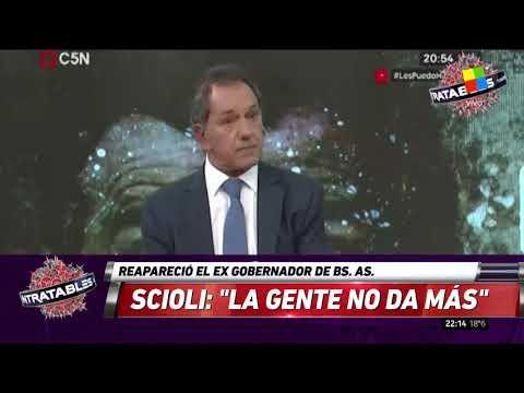 Reapareció Daniel Scioli: La gente no da más