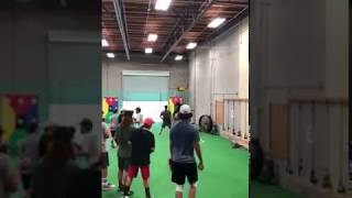 Owen Cuffe 2019 grad LHP pull down throw w/ baseball