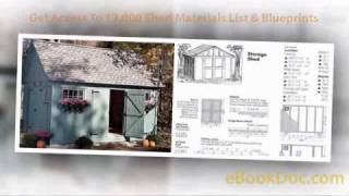 My Shed Plans With Garden And Free Storage Shed Plans