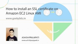 how to install an ssl certificate on amazon ec2 linux ami 2015