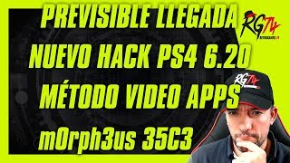 Previsible llegada Hack Exploit PS4 6.20 . m0rph3us Vídeo Apps Streaming. TCP. 35C3