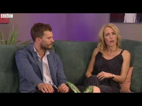 Gillian Anderson, Jamie Dornan -  BBC News Interview