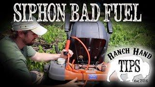 Husqvarna Riding Mower Siphon Bad Gas From Tank - Ranch Hand Tips
